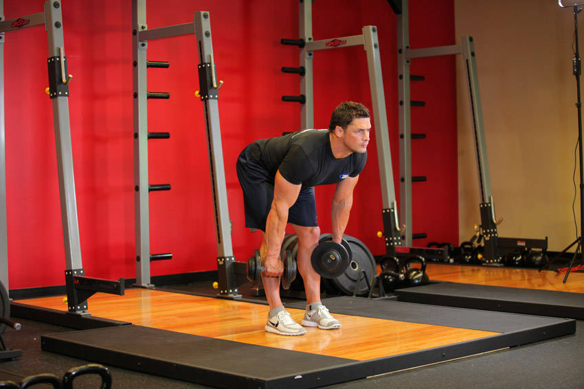 Click to enlarge Deadlifts With Dumbbells