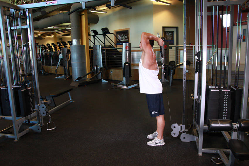 Cable Rope Overhead Triceps Extension Exercise Guide and Video