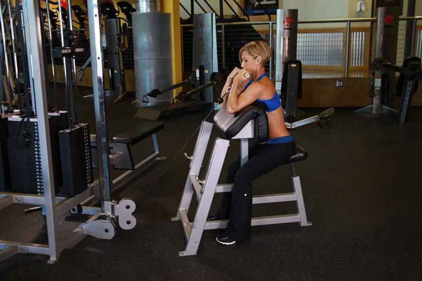Cable Preacher Curl Exercise Guide and Video