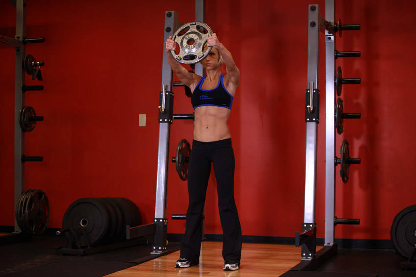 Weight Plate Front Raises Front Plate Raise  Click to