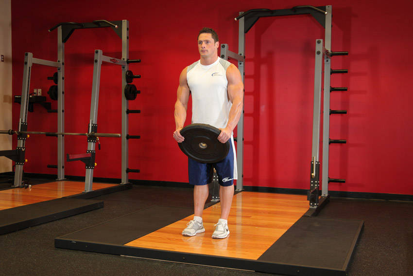 Weight Plate Front Raises Front Plate Raise Images