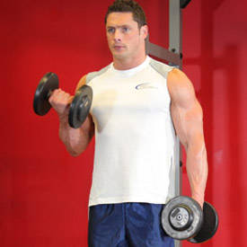 Standing alternating dumbbell curl