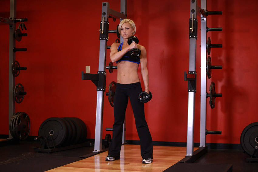 Cross Body Hammer Curl Exercise Guide and Video