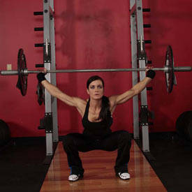 Barbell overhead squat