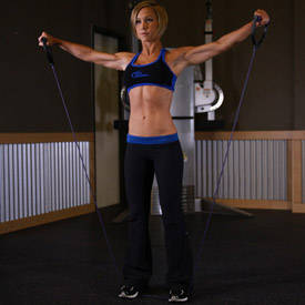 lateral raise using exercise band