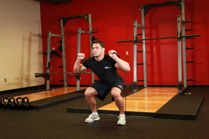 Squats - With Bands image