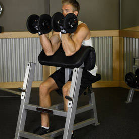 Image result for Two-Arm Dumbbell Preacher Curl
