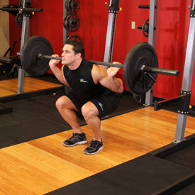 Close-stance deep squat