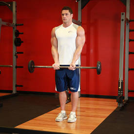 Narrow biceps curl