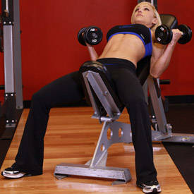 Incline Dumbbell Curls Flexor