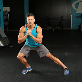 Kettlebell side-to-side squat