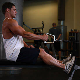 Seated One-arm Cable Pulley Rows