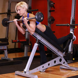 Incline-bench biceps curl