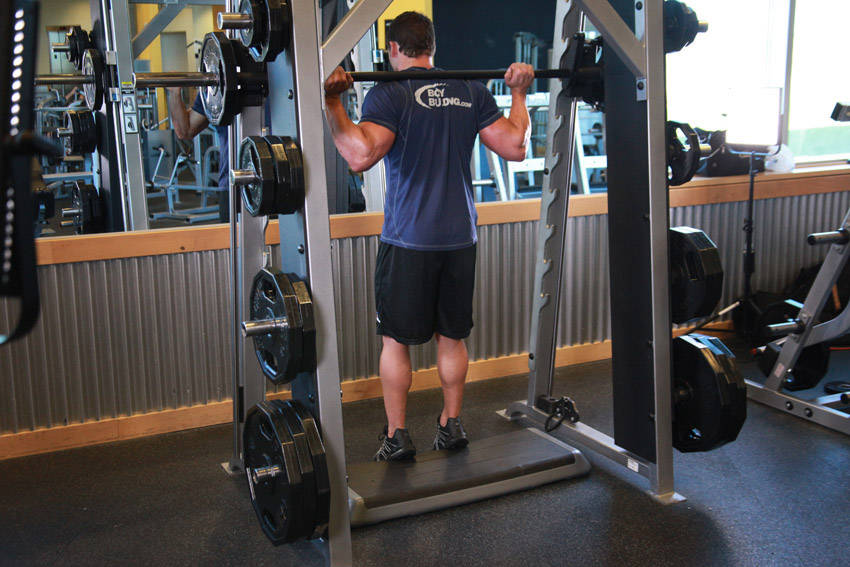 Smith Machine Reverse Calf Raises image