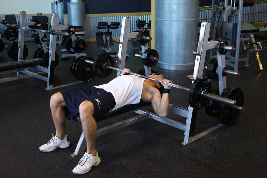 Barbell Guillotine Bench Press image