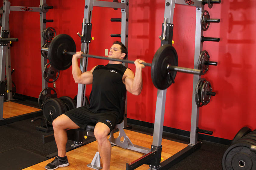 Barbell Shoulder Press Exercise Guide and Video