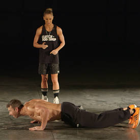 Burpee with double-lateral jump