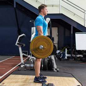 Barbell stiff-legged deadlift