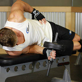 Dumbbell Lying Supination