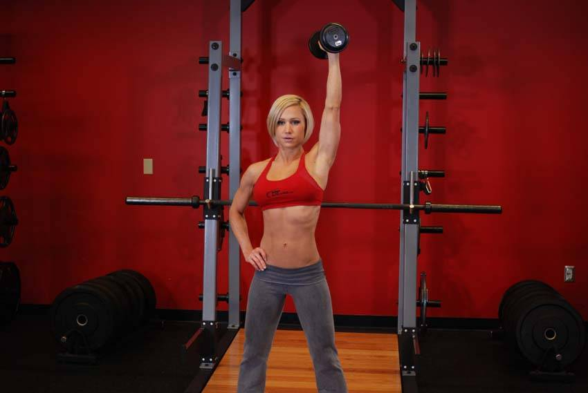 Dumbbell One-Arm Triceps Extension Exercise Guide and Video