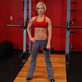 Single-arm upright row