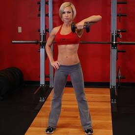 Dumbbell One-Arm Upright Row