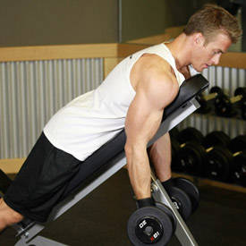 Dumbbell Prone Incline Curl image