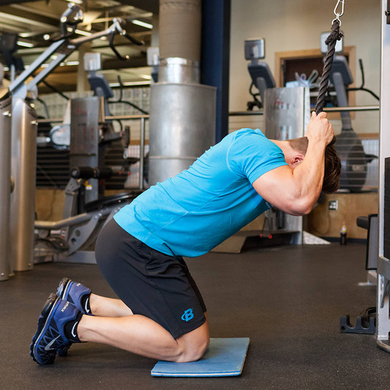 Oblique Cable Crunch Exercise Guide and Video Oblique Exercises Cable