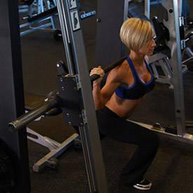 Smith machine split-squat