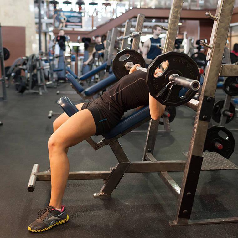 Guillotine Bench Press Part - 33: Barbell Incline Bench Press Medium-Grip