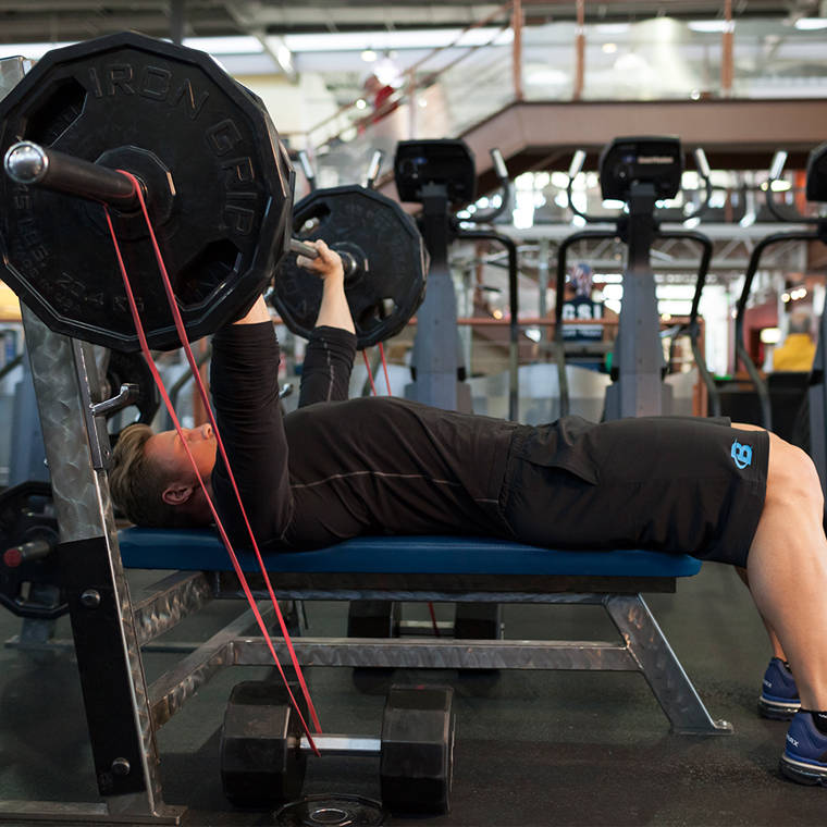 Bench Press With Short Bands image