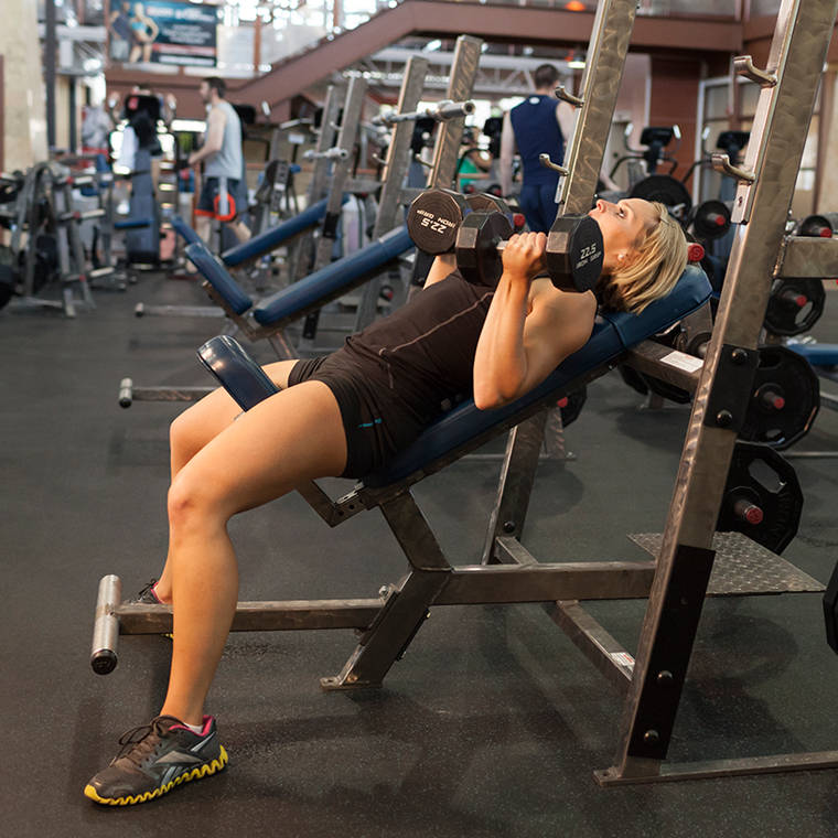 Incline Dumbbell Press Reverse Grip Exercise Guide And Video