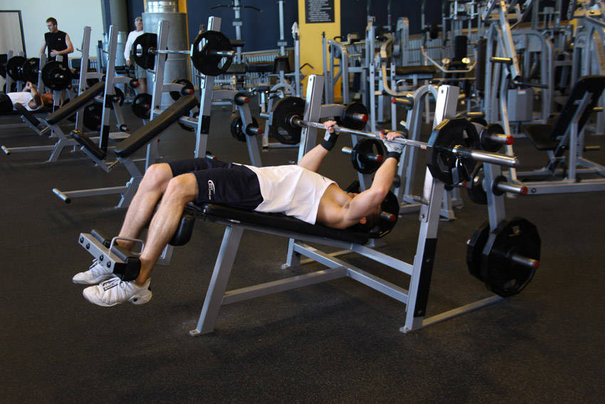 Decline Press Without Bench Decline Barbell Bench Press