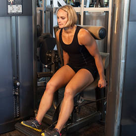 seated back extension machine