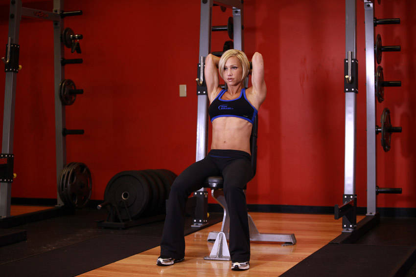 Seated Triceps Press Exercise Guide and Video