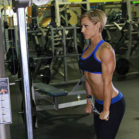 Cable single-arm triceps push-down