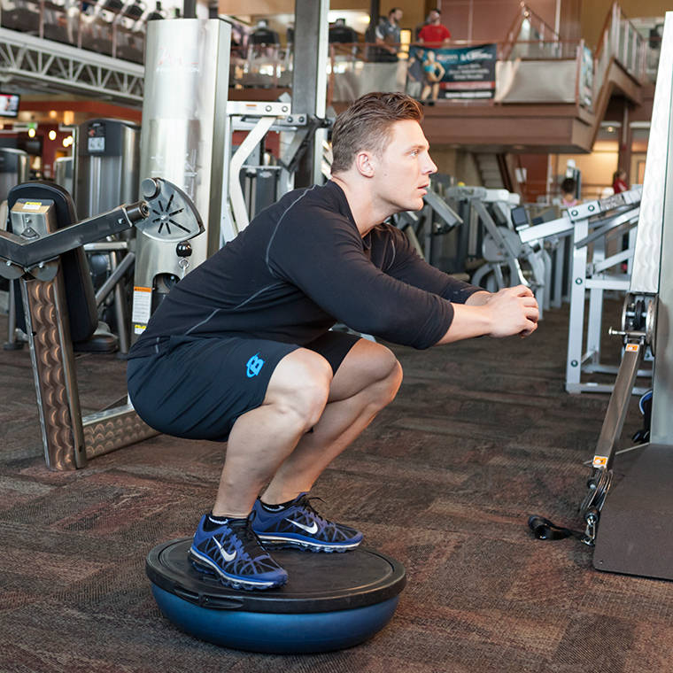 Bosu Ball Squat Exercise Guide and Video