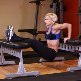 Triceps dips off chair or bench