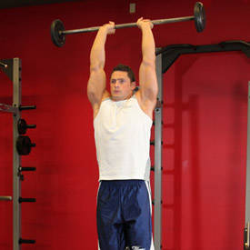 Overhead EZ-bar triceps extension