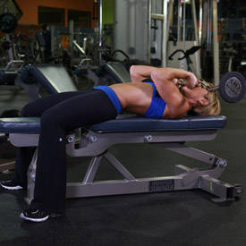 Lying close-grip triceps press