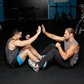 Partner Sit-Up With High-Five