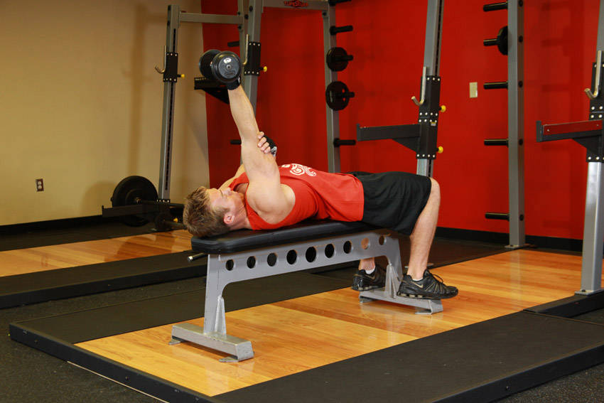 Tricep Pushdown With Dumbbells