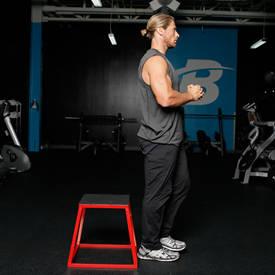 Single-leg box squat