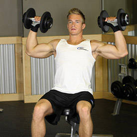 Seated single-arm dumbbell press
