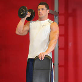 Single-arm dumbbell press