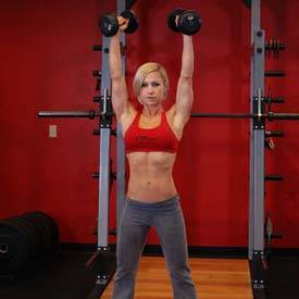 Standing Palms-In Dumbbell Press