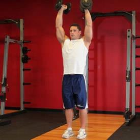 Standing Palms-In Dumbbell Press image