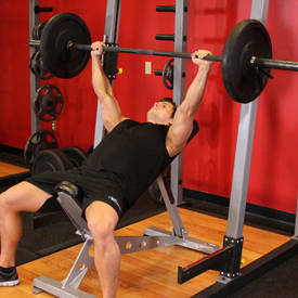 Wide-grip incline barbell press