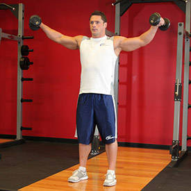 Standing side lateral raise