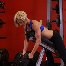 Prone incline dumbbell reverse fly